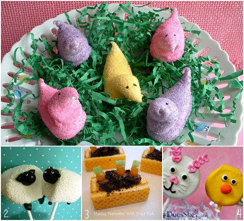 Kid Friendly Easter Desserts  Easter Round up Dinner Dessert Decorations and more