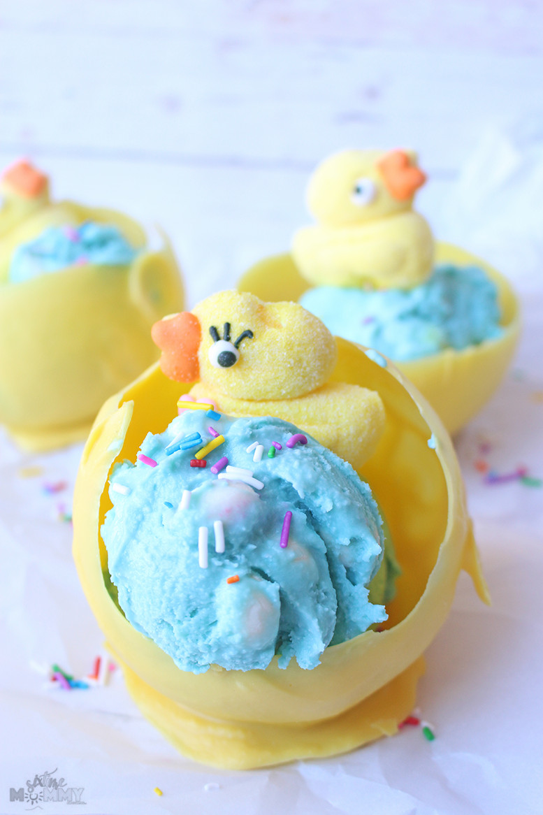 Kid Friendly Easter Desserts  Kid Friendly Easter Dessert Homemade Bubblegum Egg Ice