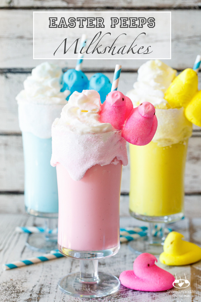 Kid Friendly Easter Desserts  Toasted Marshmallow Easter Peeps Milkshakes d Appetite
