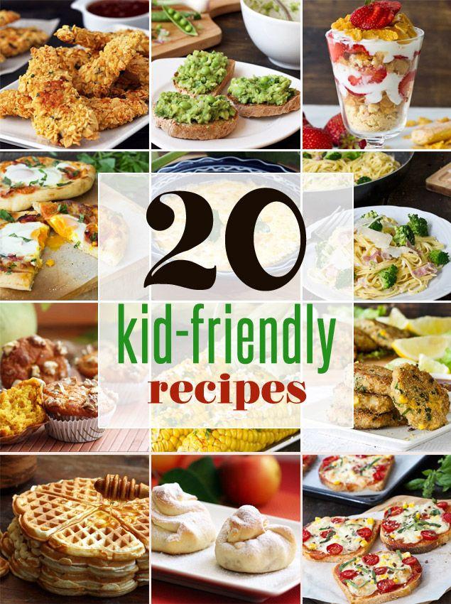 Kid Friendly Healthy Recipes  20 Easy Kid Friendly Recipes healthy recipes that kids