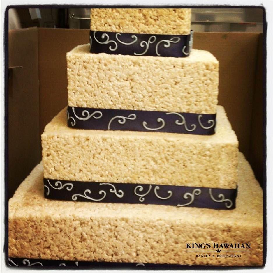 Kings Hawaiian Wedding Cakes  RiceKrispy Wedding Cake King s Hawaiian Bakery