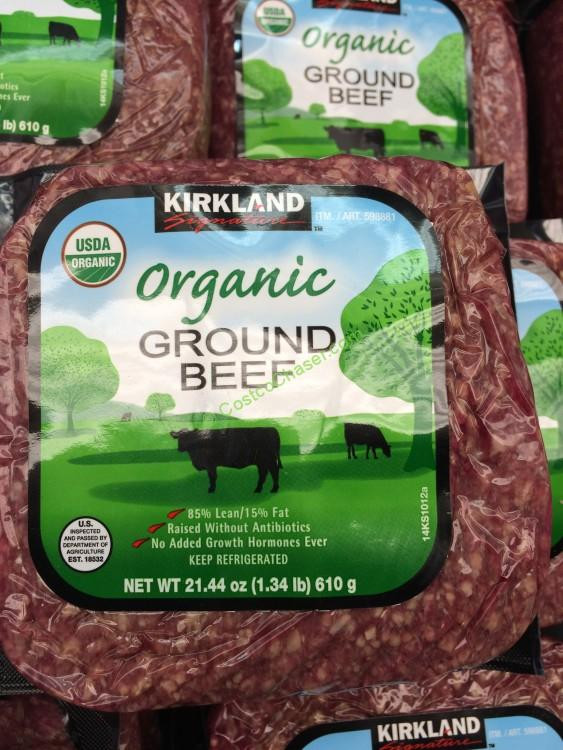 Kirkland Organic Ground Beef  Kirkland Signature Organic Ground Beef 4 Pound Sell Unit