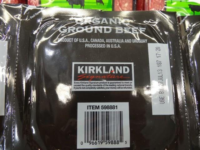 Kirkland Organic Ground Beef  Kirkland Signature Organic Ground Beef