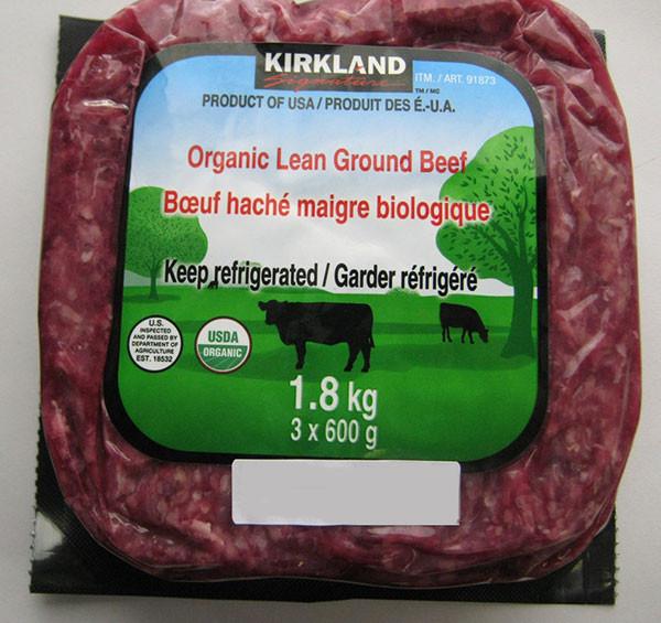 Kirkland Organic Ground Beef  E coli concerns prompt Costco organic beef recall in