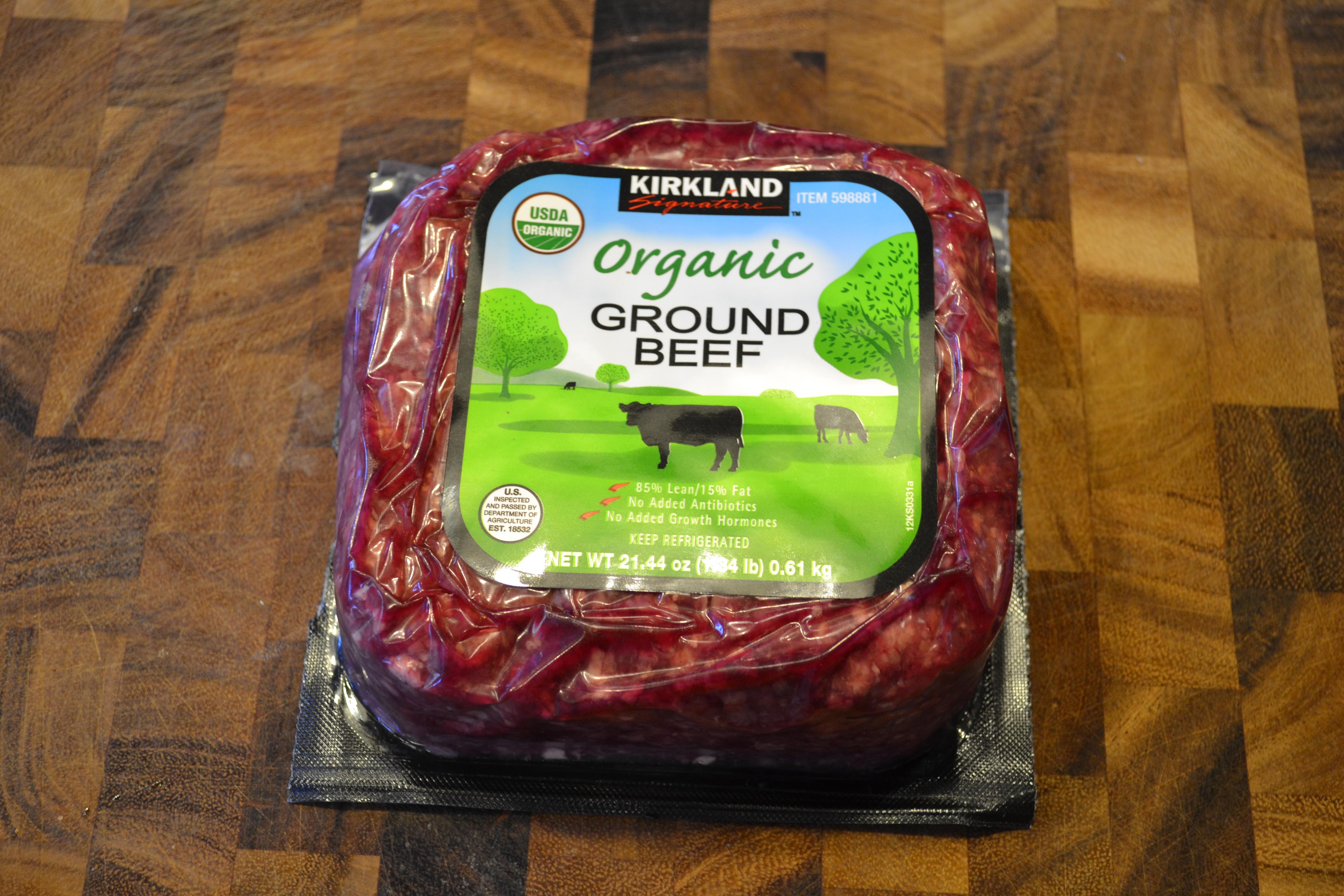 Kirkland Organic Ground Beef  Pete's Burgers The Breakfast Burger