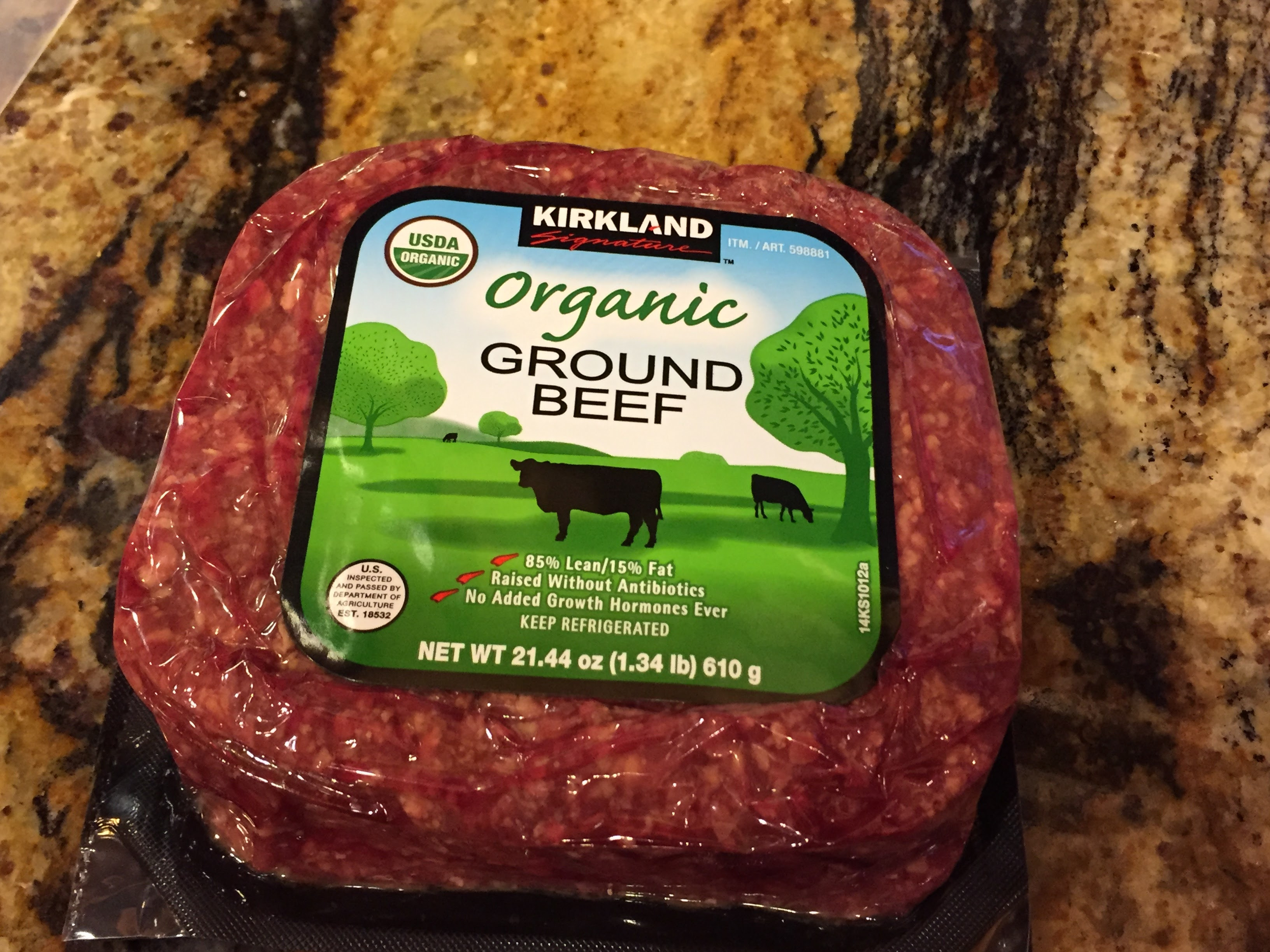 Kirkland Organic Ground Beef  Costco Ground Beef