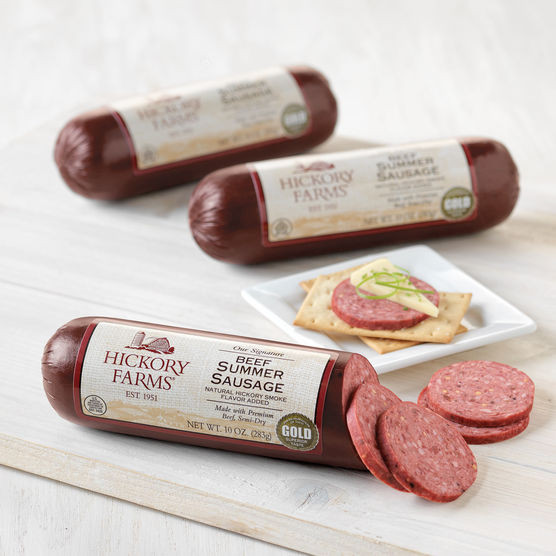 Klements Beef Summer Sausage  how much is 1 oz of summer sausage