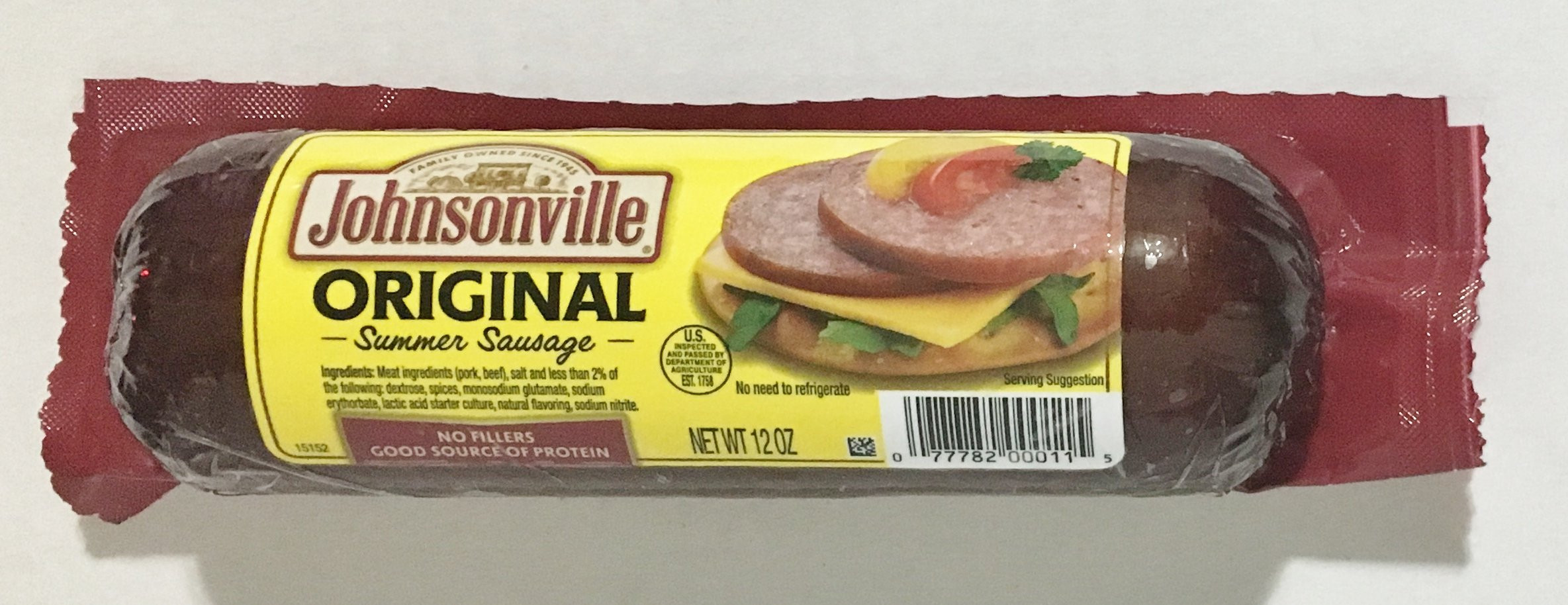 Klements Beef Summer Sausage  12oz Johnsonville Beef Summer Sausage Pack of 2 Amazon