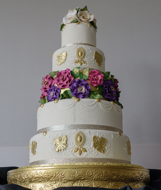 Konditor Meister Wedding Cakes  Ornate Five Tier Wedding Cake by Konditor Meister