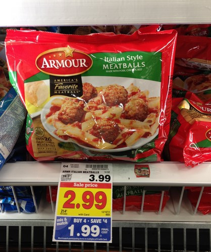 Kroger Easter Dinner  KROGER MEGA EVENT Armour Meatballs ONLY $1 44 reg $3 99