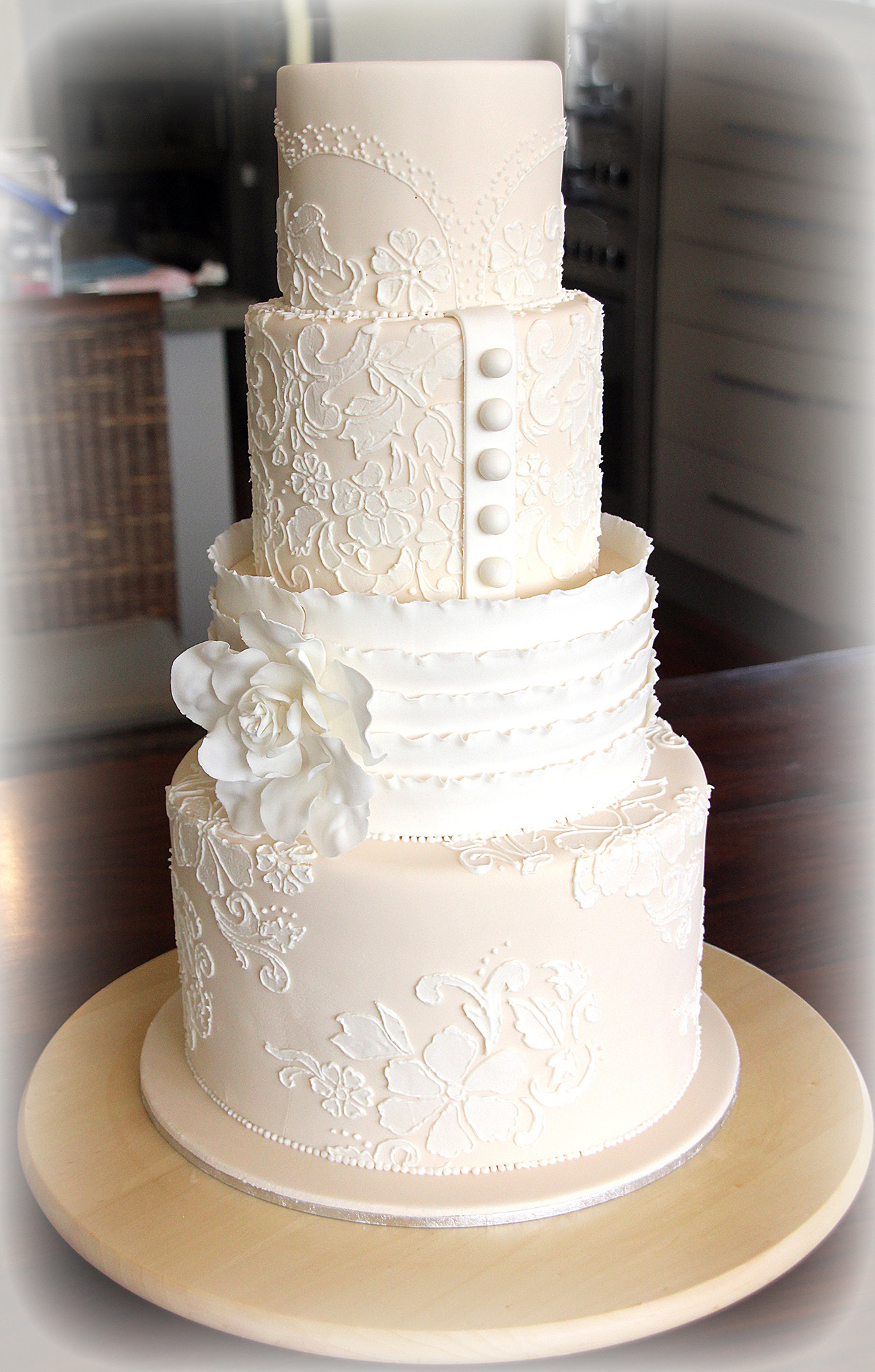 Lace Wedding Cakes  Lace Wedding Cake Tutorial – cakes