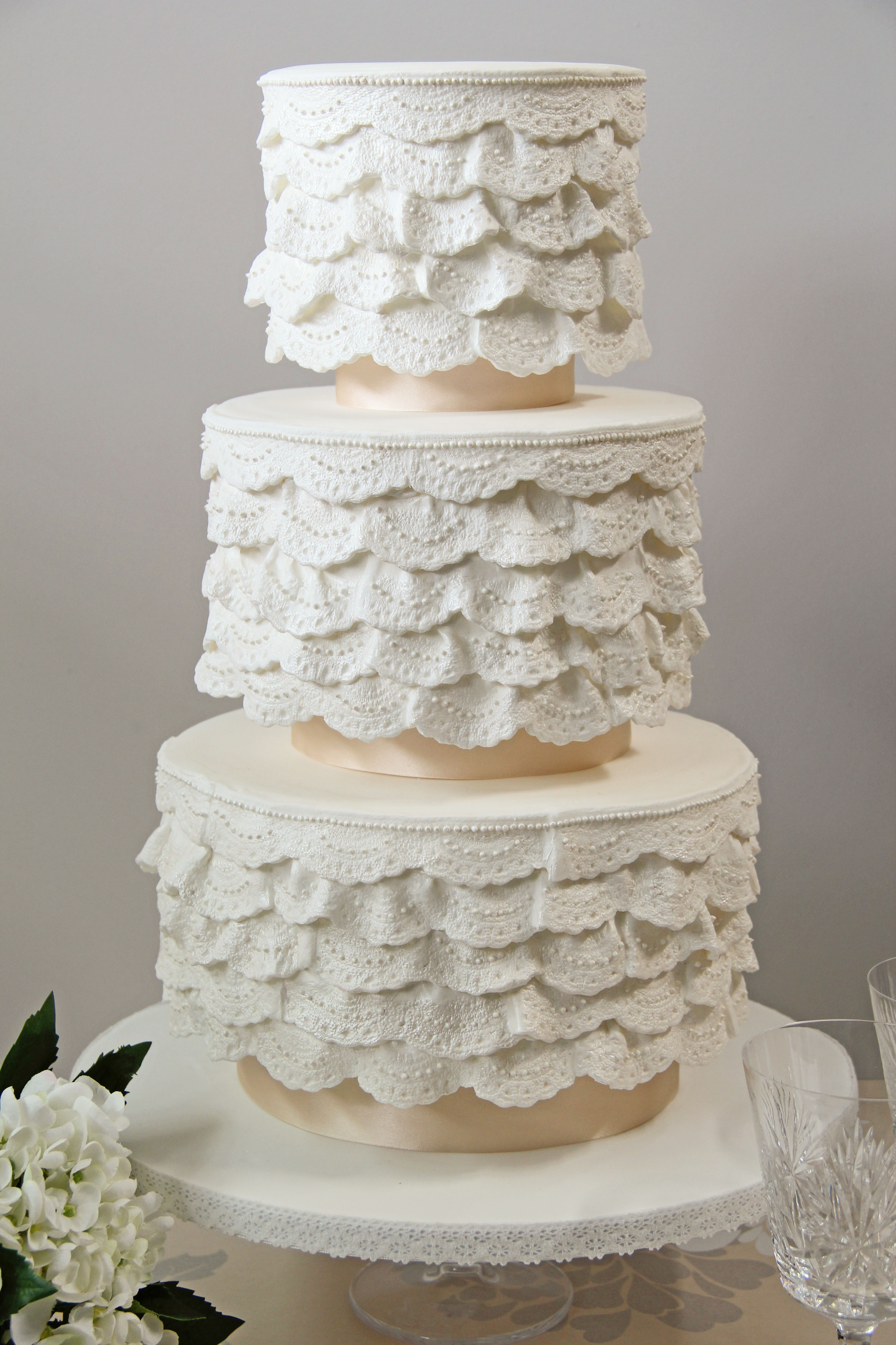 Lace Wedding Cakes  Wedding Cake Flavours & Designs with Sweetness Cake