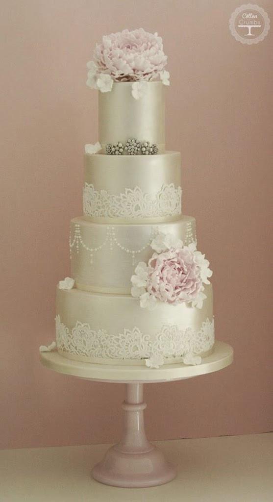Lace Wedding Cakes  Lace Wedding Cakes Belle The Magazine