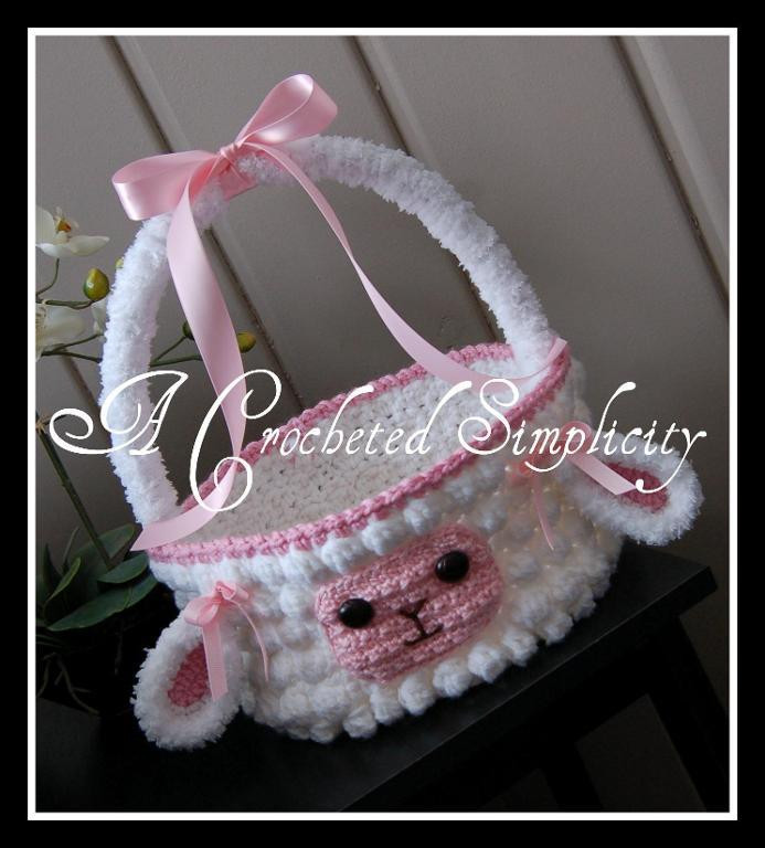 "Lamb Easter Basket  ""Lily or Lyle"" the Lamb Easter Basket by Jennifer Pionk"