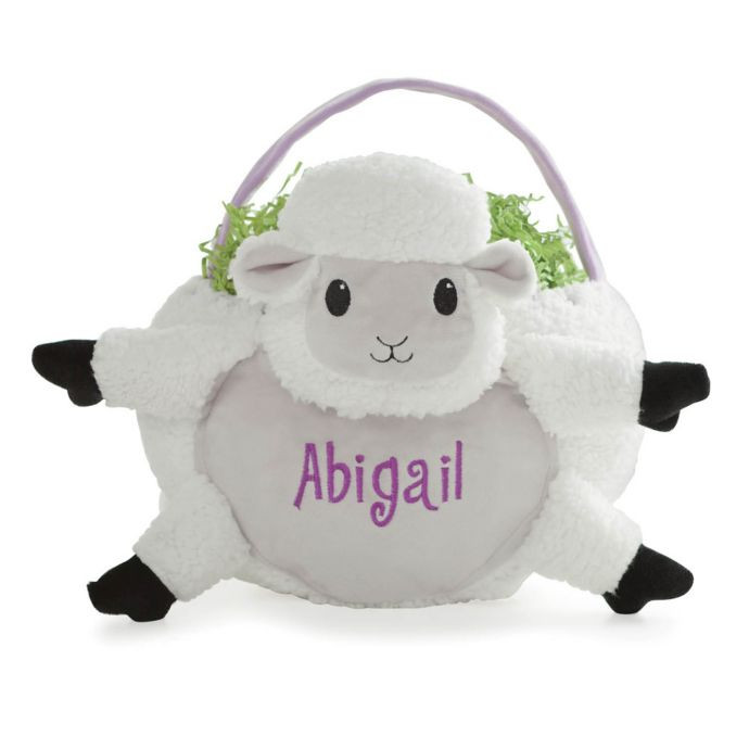 Lamb Easter Basket  Lamb Easter Basket in White