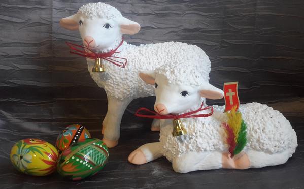 Lamb Easter Basket  Polish Laying Easter Lamb Baranek Wielkanocny 7 5