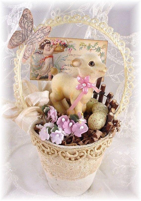 Lamb Easter Basket  EXTRA Easter Lamb Basket