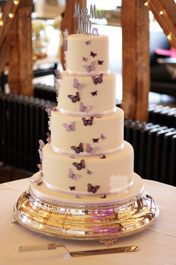 Large Wedding Cakes  A Wedding Cake on a Not so Big Bud Sticky