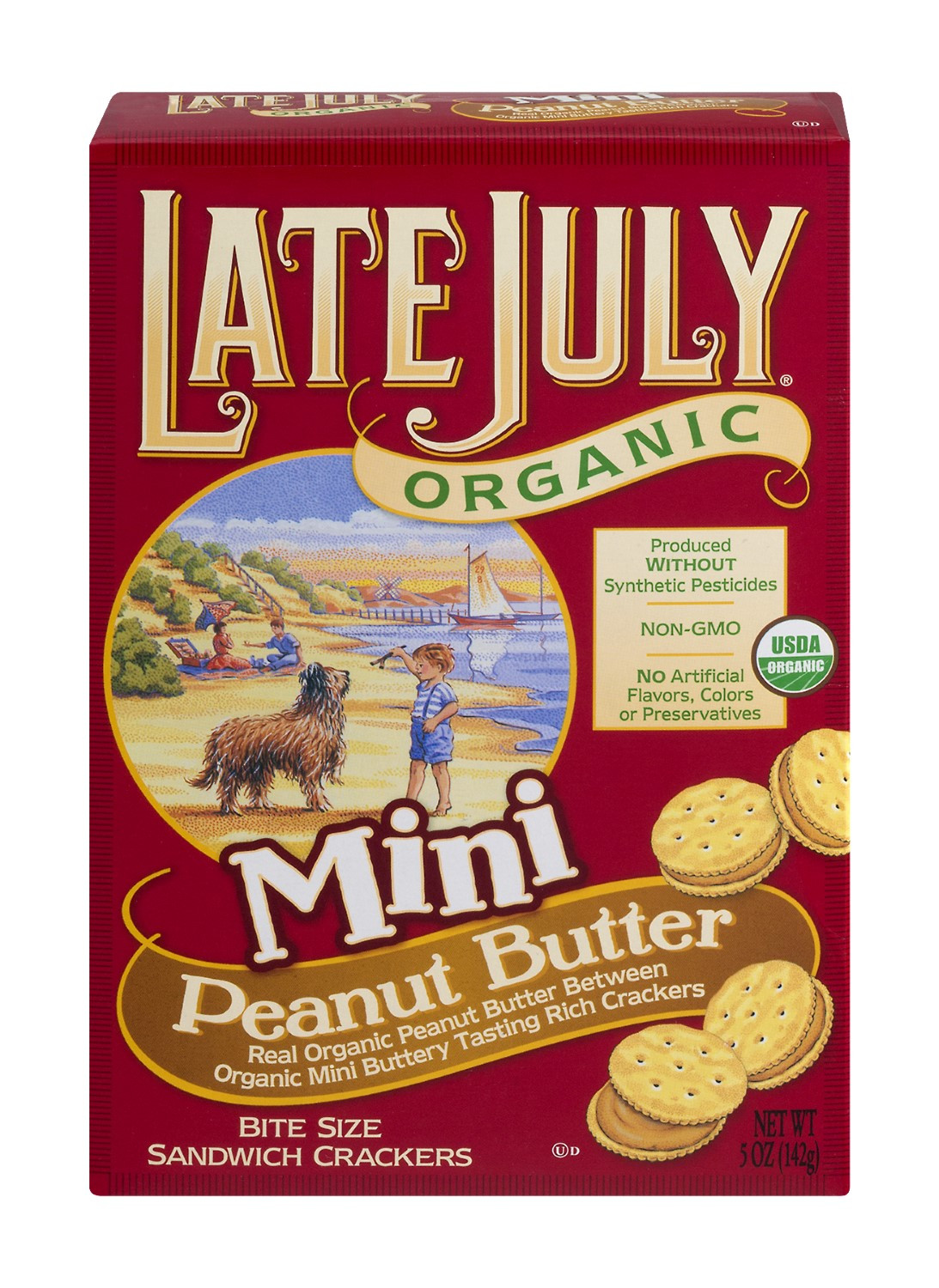 Late July Crackers  Late July Snacks Mini Peanut Butter Sandwich Crackers 5