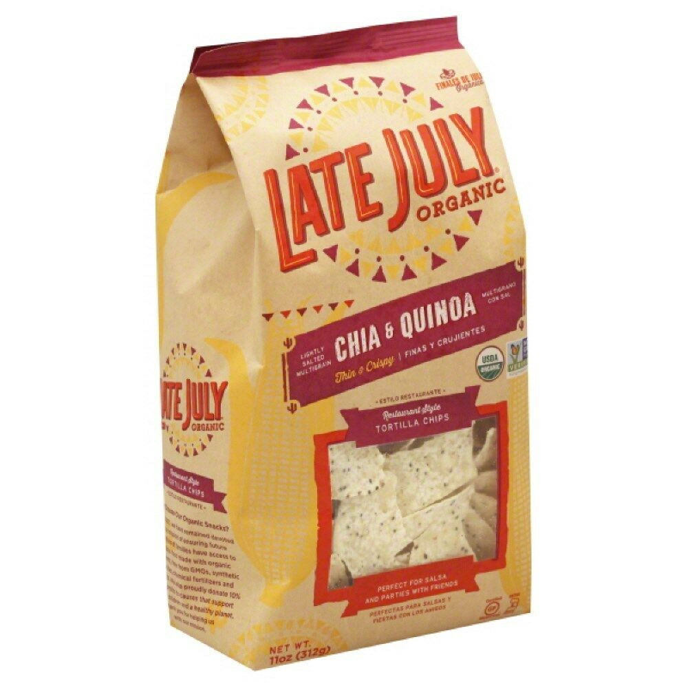 Late July Crackers  Late July Snacks Tortilla Chips Restaurant Style Chia