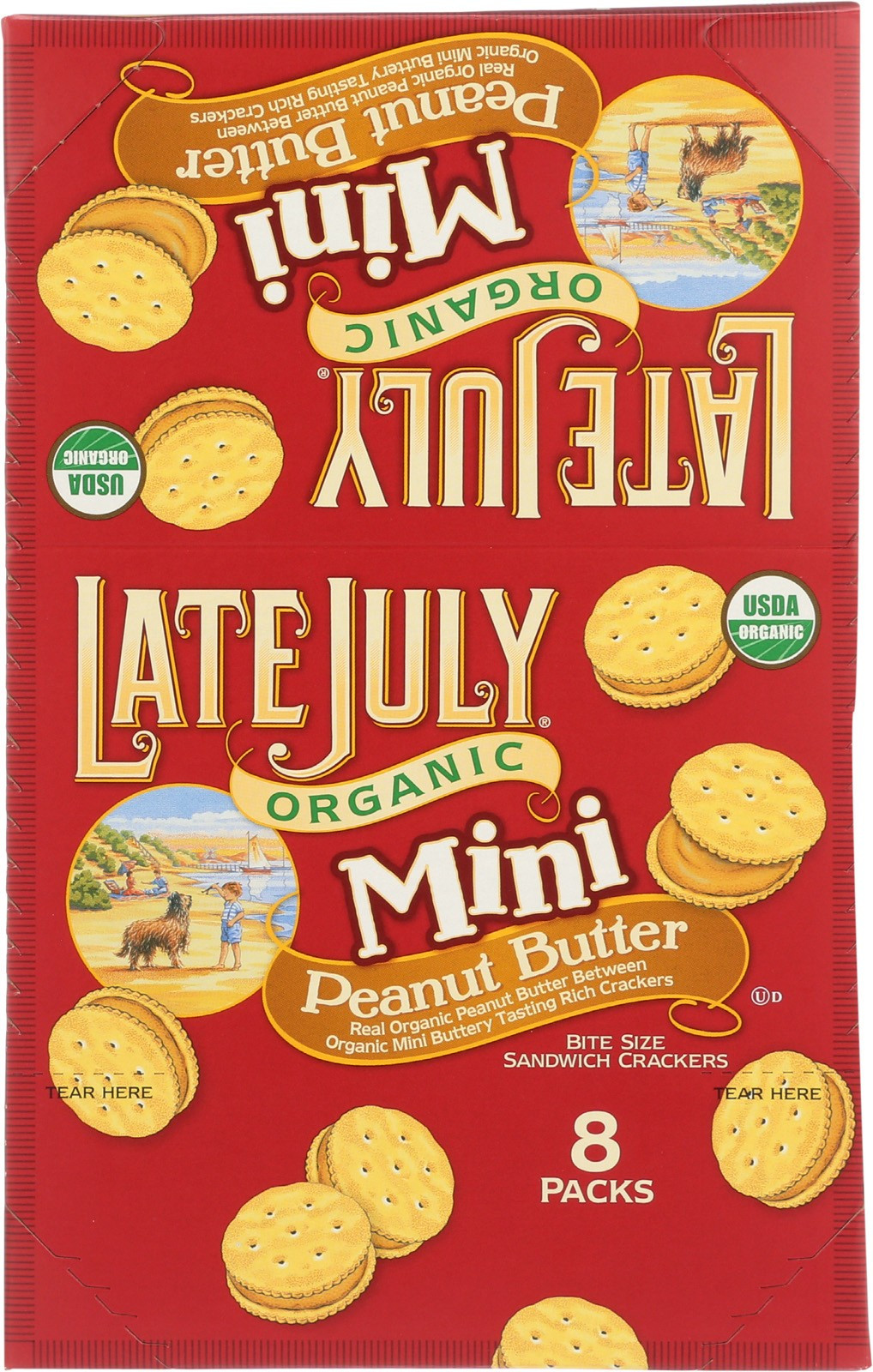 Late July Crackers  Late July Snacks Sandwich Crackers Peanut Butter Case