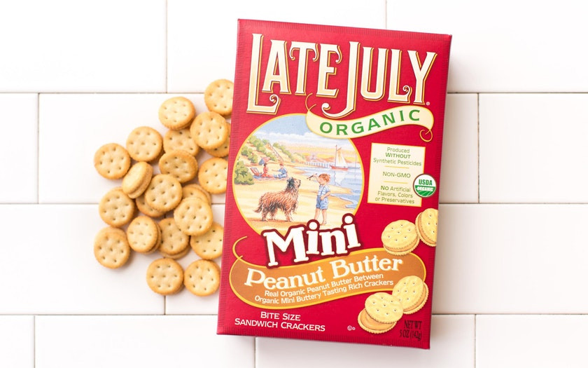 Late July Crackers  Organic Peanut Butter Sandwich Crackers Late July