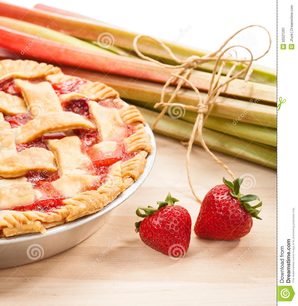 Late Summer Desserts  Strawberry Rhubarb Pie Stock Image Image