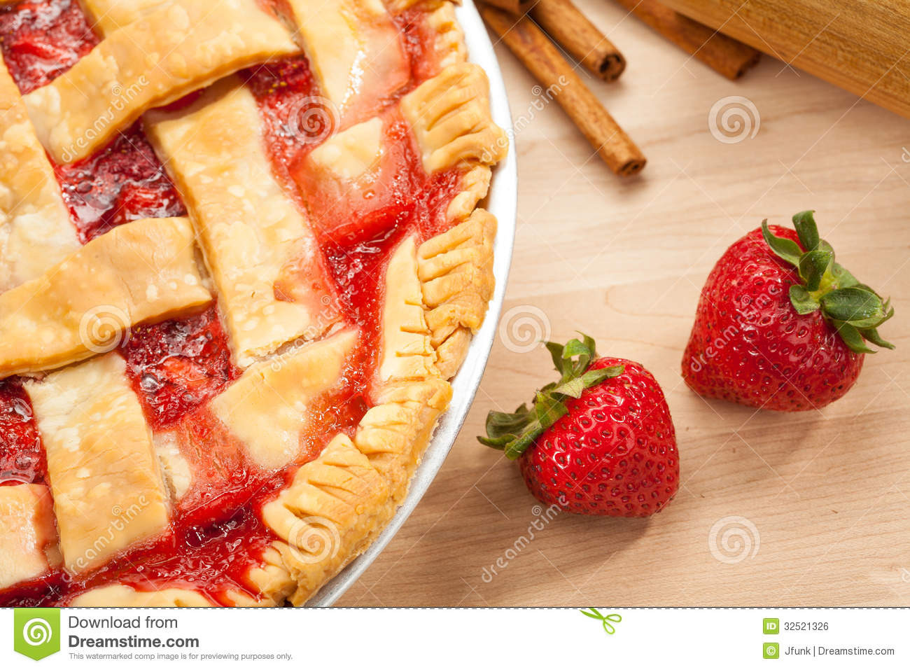 Late Summer Desserts  Strawberry Pie Royalty Free Stock Image Image