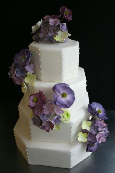 Lavender And White Wedding Cake  Inspiration Board Lavender Wedding Theme