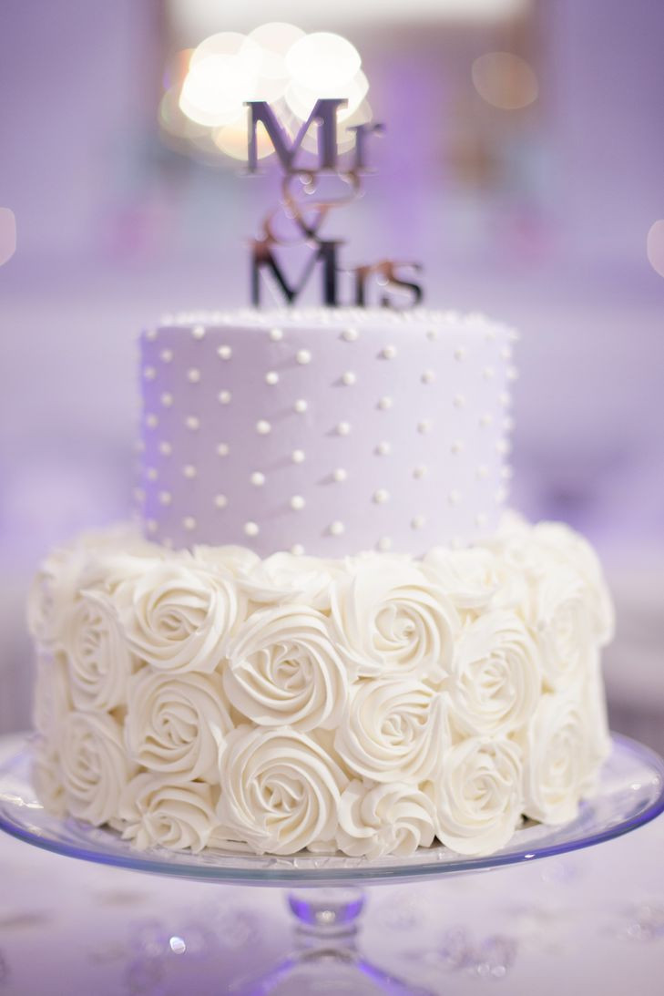 Lavender And White Wedding Cake  Lavender and White Wedding Cake