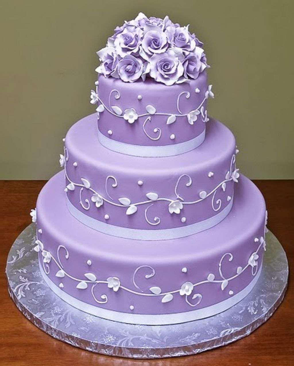 Lavender Wedding Cakes Pictures  Purple Wedding Cakes baking Pinterest