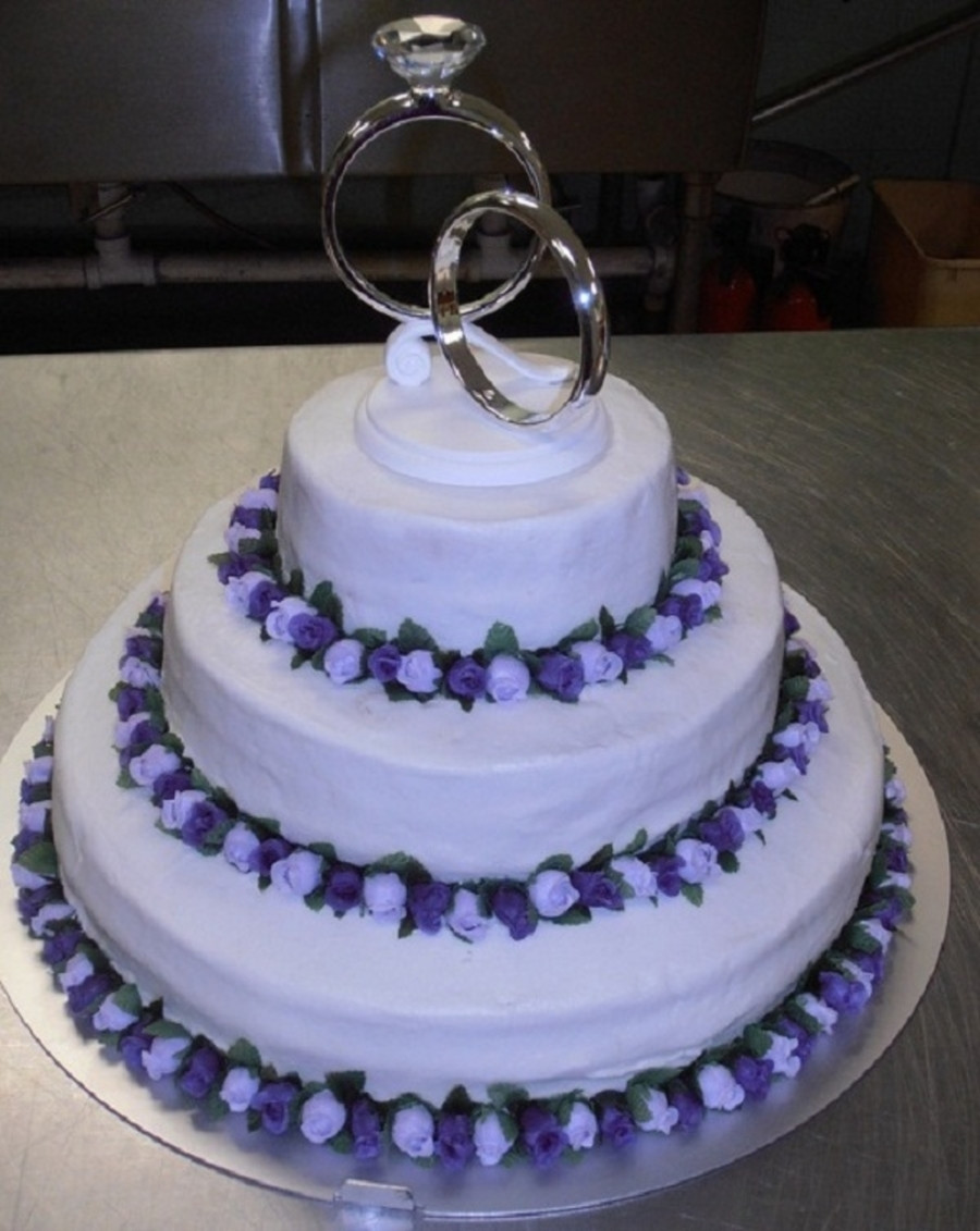 Lavender Wedding Cakes Pictures  Lavender purple Rose Wedding Cake CakeCentral