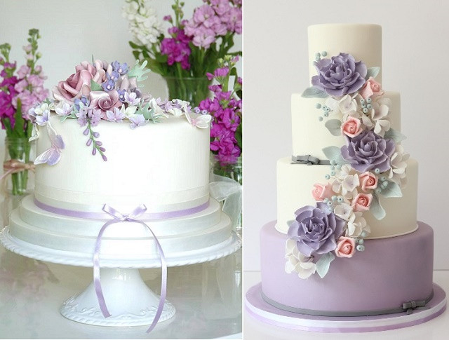Lavender Wedding Cakes Pictures  Purple Lilac & Lavender Wedding Cakes – Cake Geek Magazine