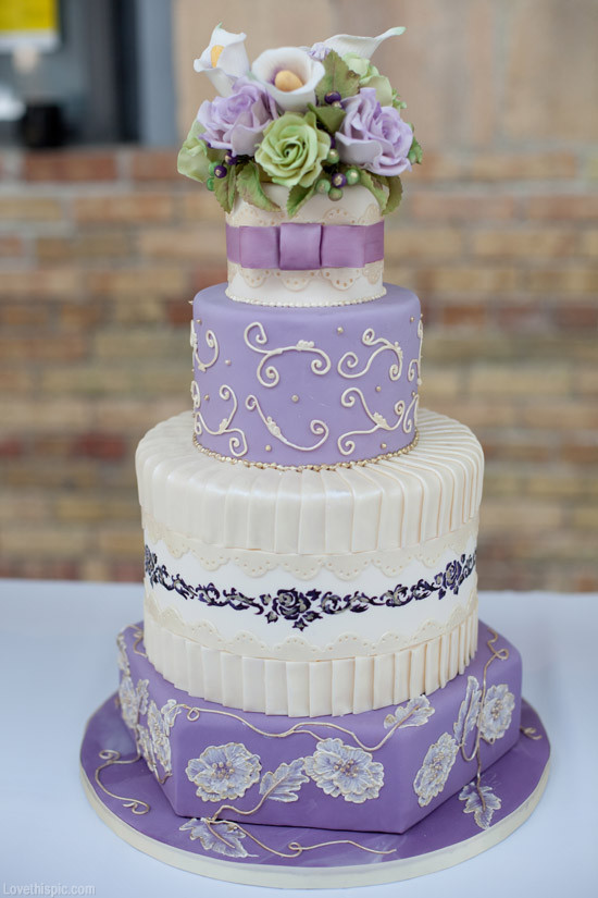 Lavender Wedding Cakes Pictures  Lavender Wedding Cake s and for