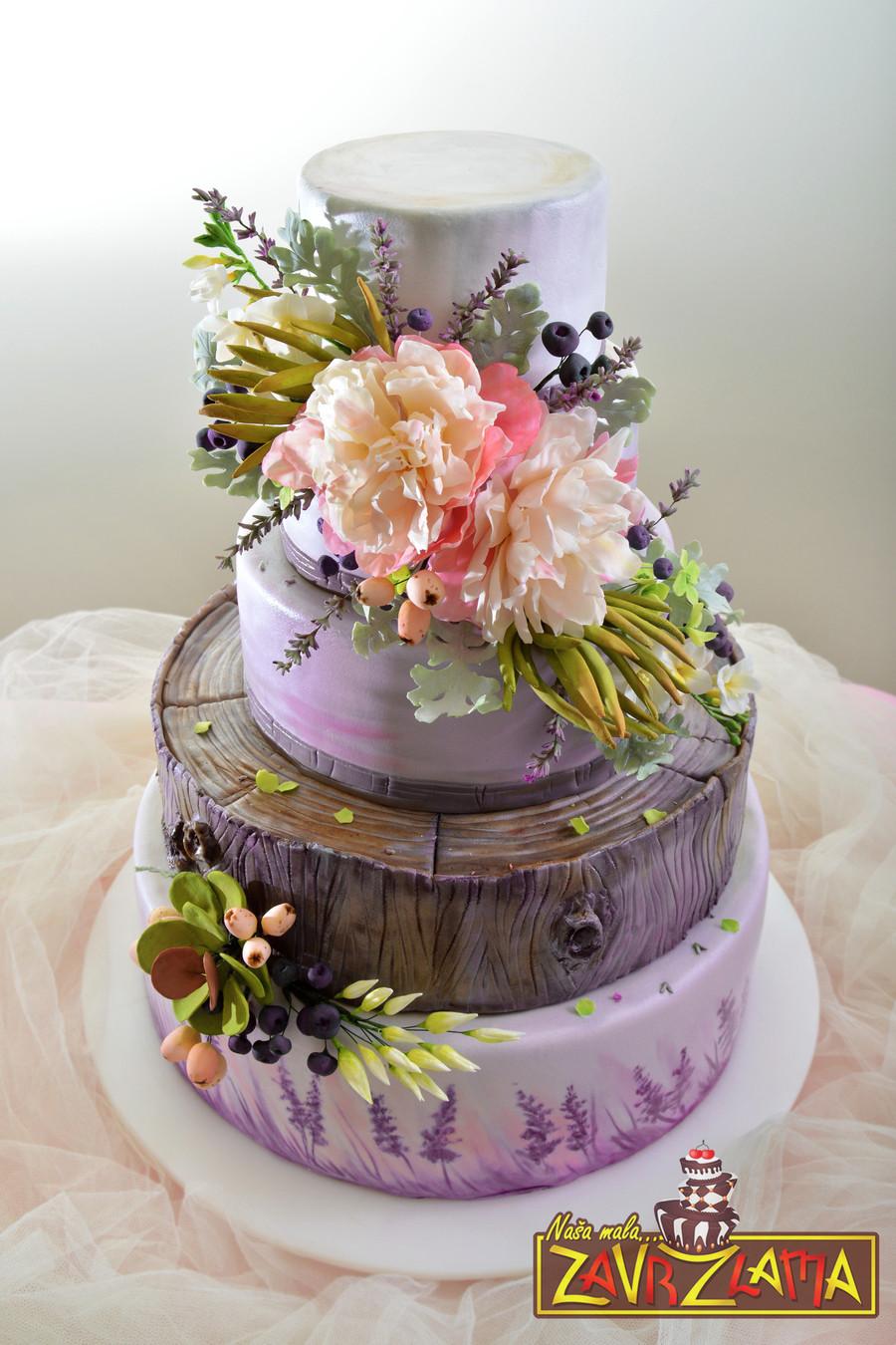 Lavender Wedding Cakes  Lavender Wedding Cake CakeCentral