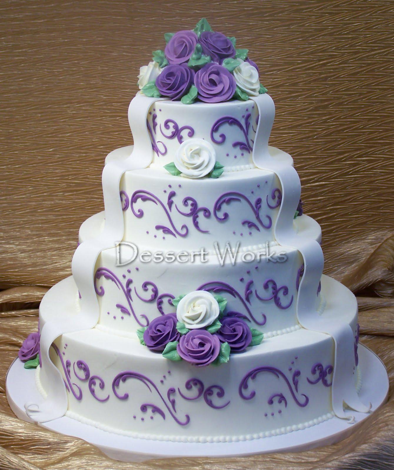 Lavender Wedding Cakes  Dessert Works Bakery July 2010