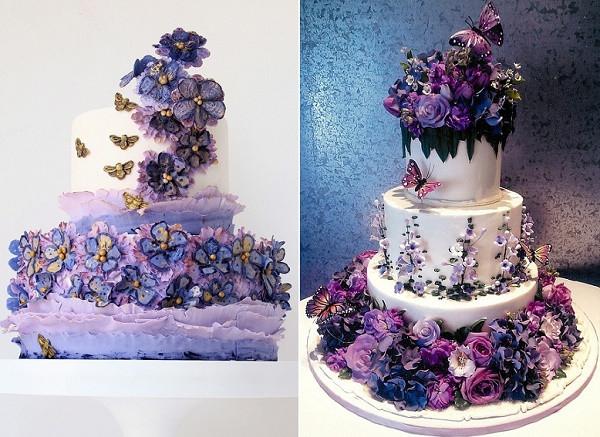 Lavender Wedding Cakes  Purple Lilac & Lavender Wedding Cakes – Cake Geek Magazine