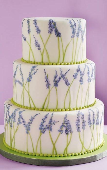 Lavender Wedding Cakes  Wedding Cakes Purple & Green Round Wedding Cakes