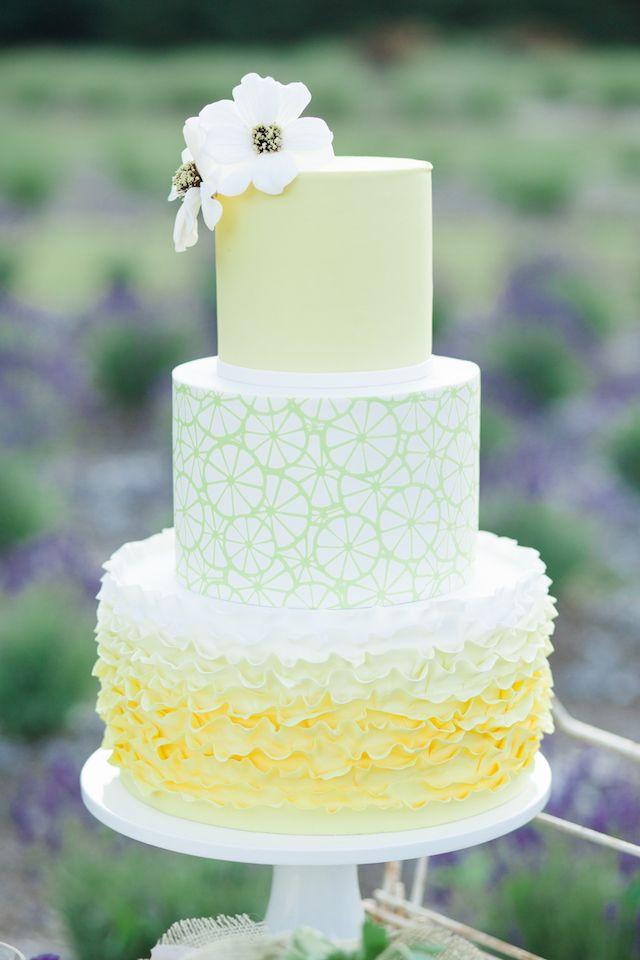 Lemon Wedding Cakes  lemon and lavender wedding