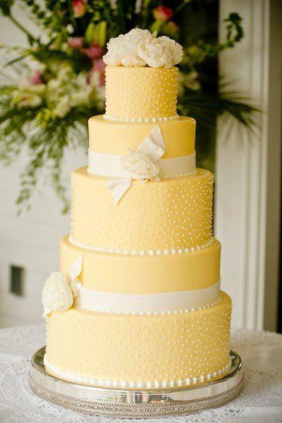 Lemon Wedding Cakes  Yellow Wedding Cakes Wedding Ideas
