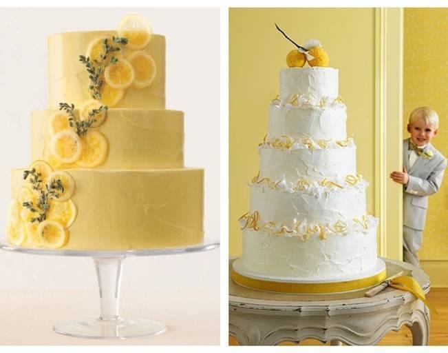 Lemon Wedding Cakes  Citrus Inspired Wedding Cakes