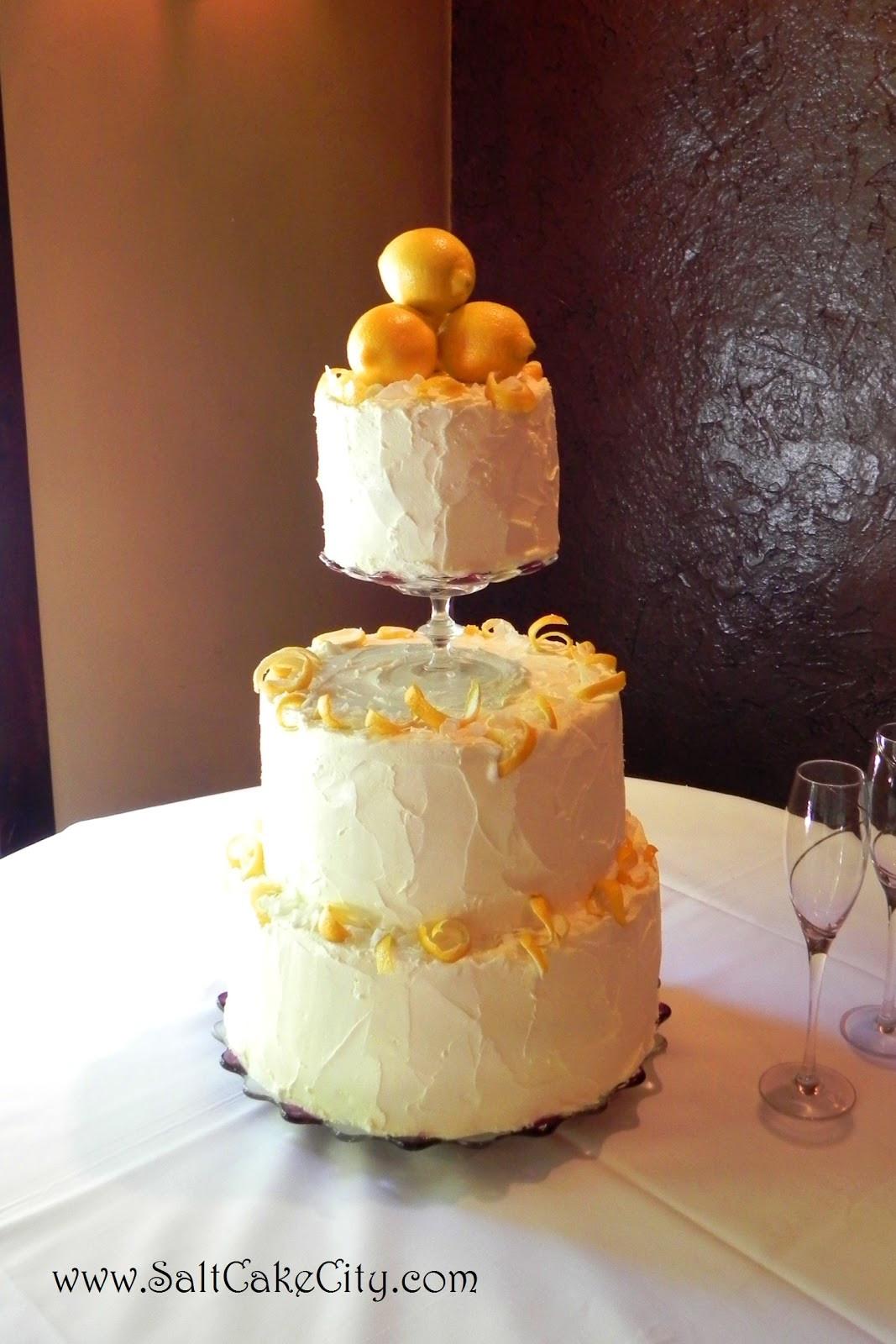 Lemon Wedding Cakes  Salt Cake City Lemon Buttercream Wedding Cake