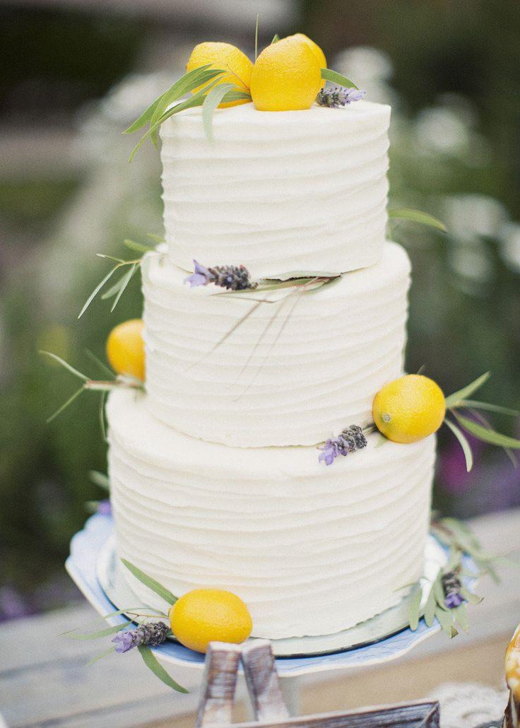 Lemon Wedding Cakes  Stunning & Scrumptious Summer Wedding Cake Ideas Chic