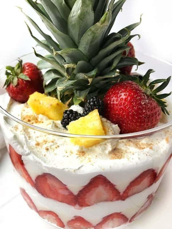 Light Desserts For Summer  Light Summer Desserts Strawberry Lemon Curd Trifle