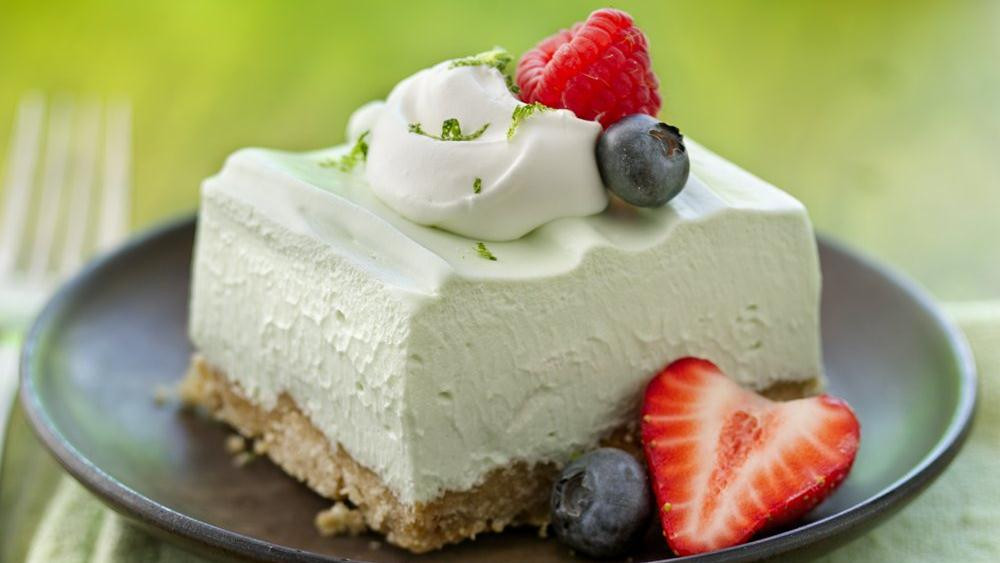 Light Desserts For Summer  Light and Fluffy Key Lime Dessert Squares recipe from