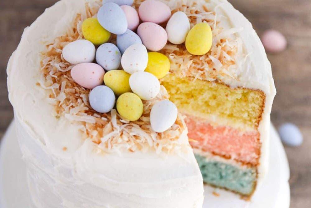 Light Easter Desserts  Easter Egg Layered Cake I Heart Nap Time