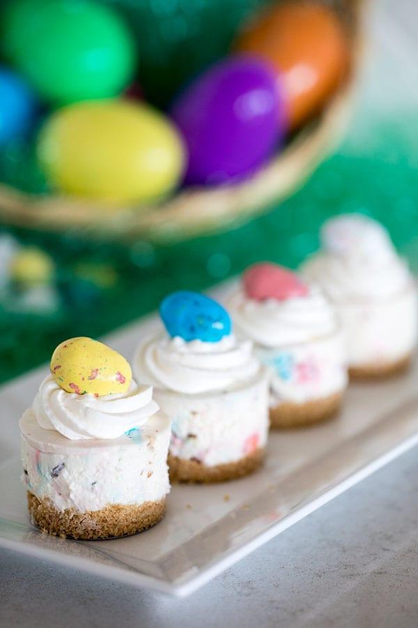 Light Easter Desserts  Robin Eggs No Bake Cheesecake Recipe