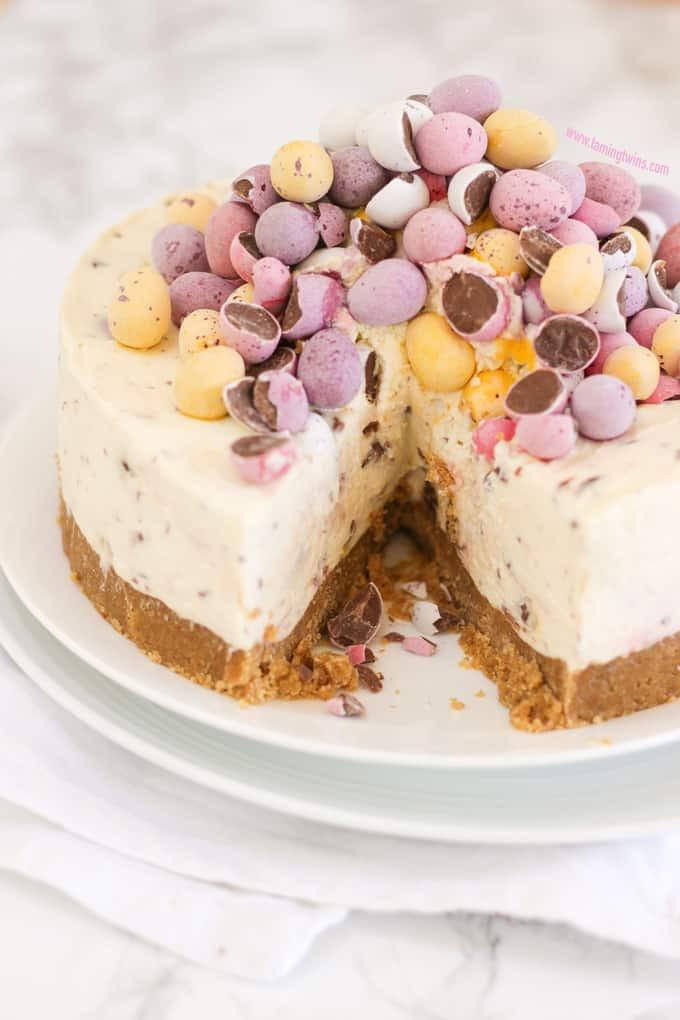 Light Easter Desserts  No Bake Mini Egg Cheesecake Recipe Taming Twins