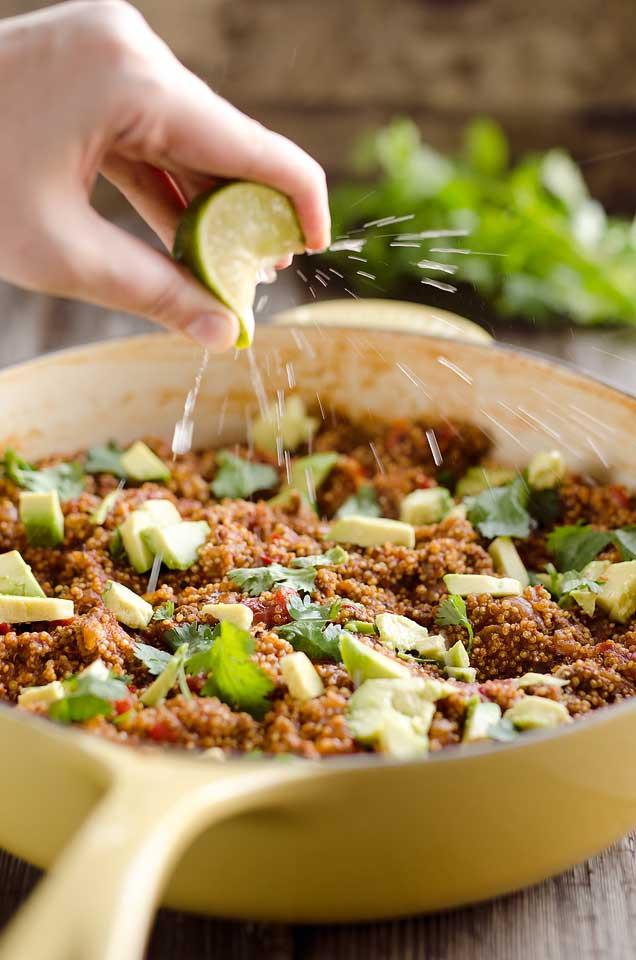 Light Healthy Dinner  Light Taco Quinoa Skillet Fresh Healthy Dinner