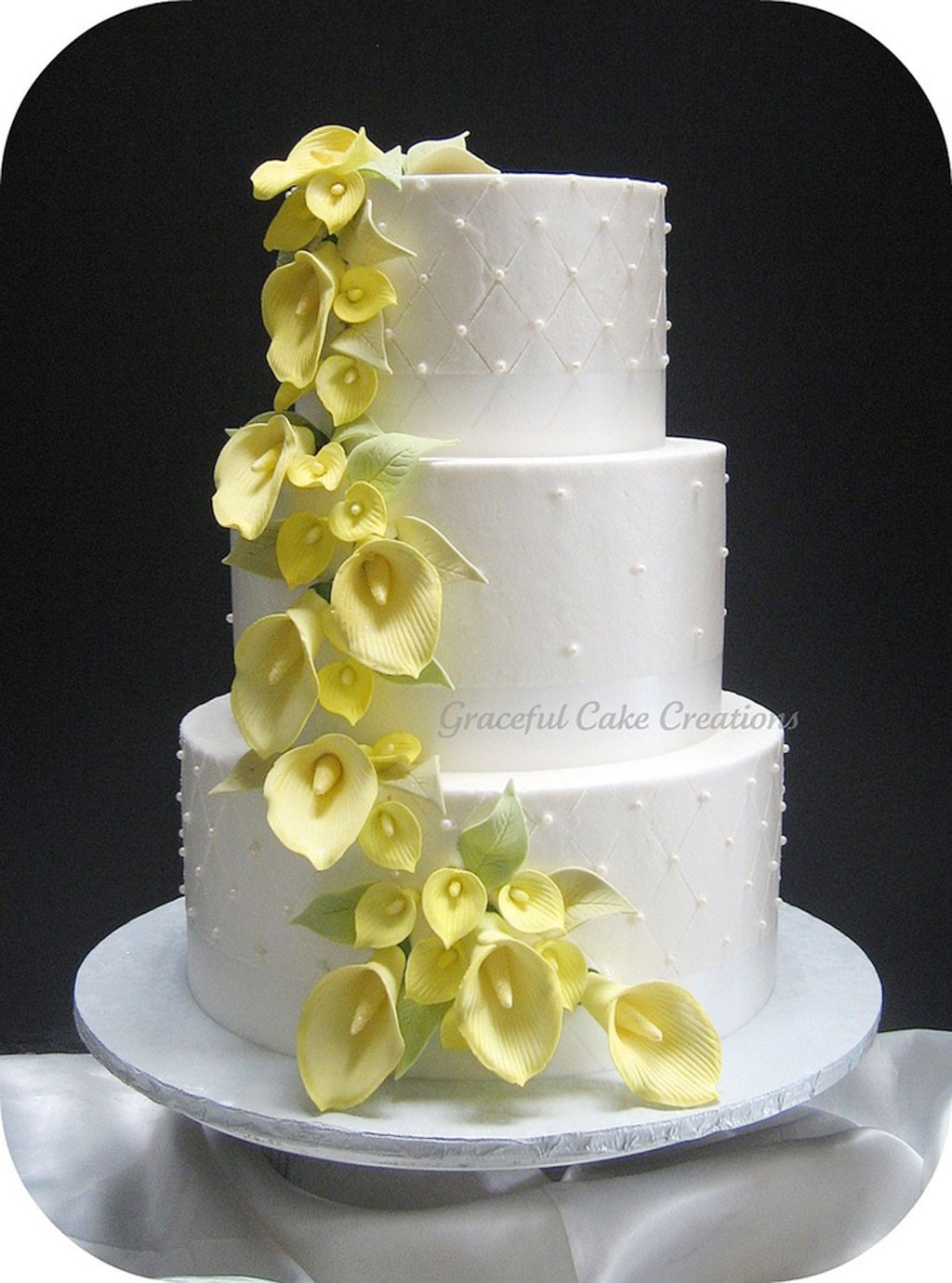 Lilly Wedding Cakes  Yellow Calla Lily Wedding Cake Wedding Cake Cake Ideas